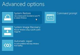 System Restore in Windows 8